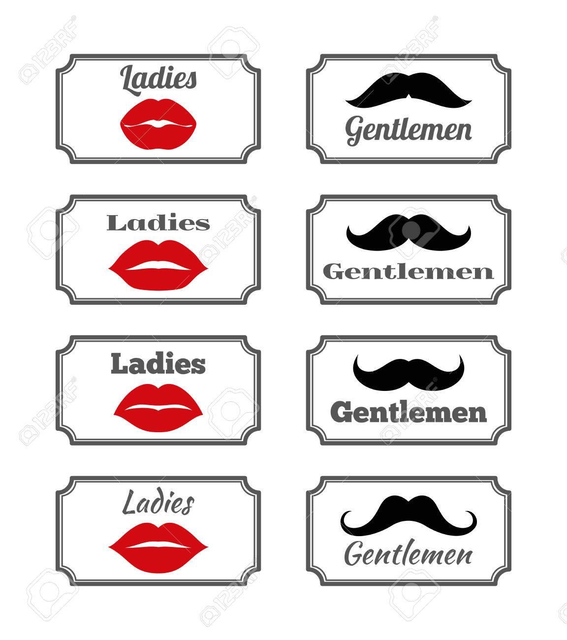 Salle De Bain Hipster ~ mesdames et messieurs des symboles de salle de bain l vres de