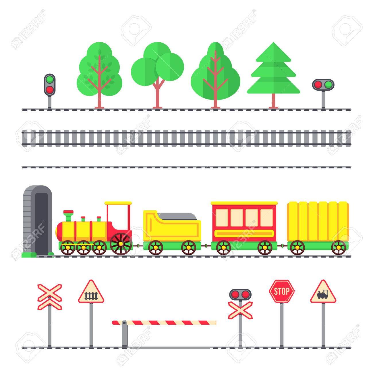 De Juguete Con SemáforosLocomotora Dibujos AnimadosFerrocarril NiñosSeñales Pasajeros Tren Y RjAL54
