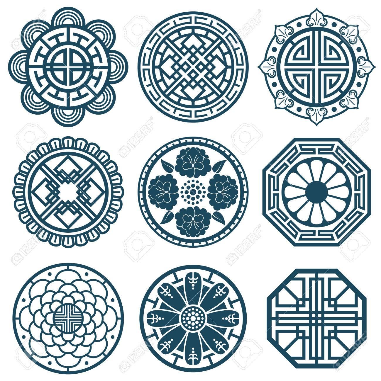 Traditional korean symbols vector korea pattern design for traditional korean symbols vector korea pattern design for bathroom repeat tiles traditional korean pattern biocorpaavc Images