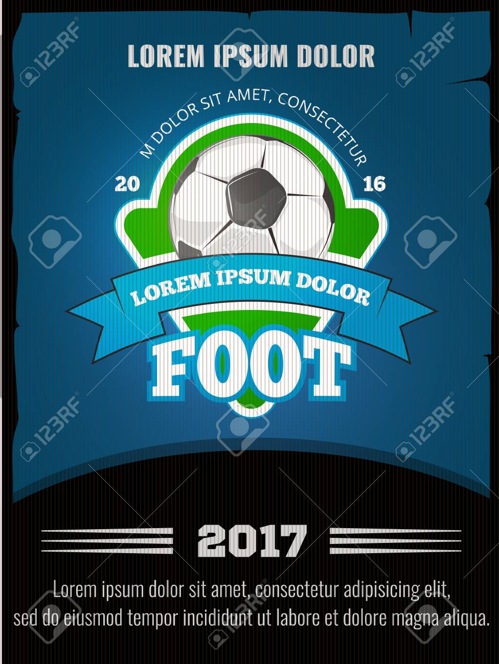 football soccer vector poster template competition sport banner