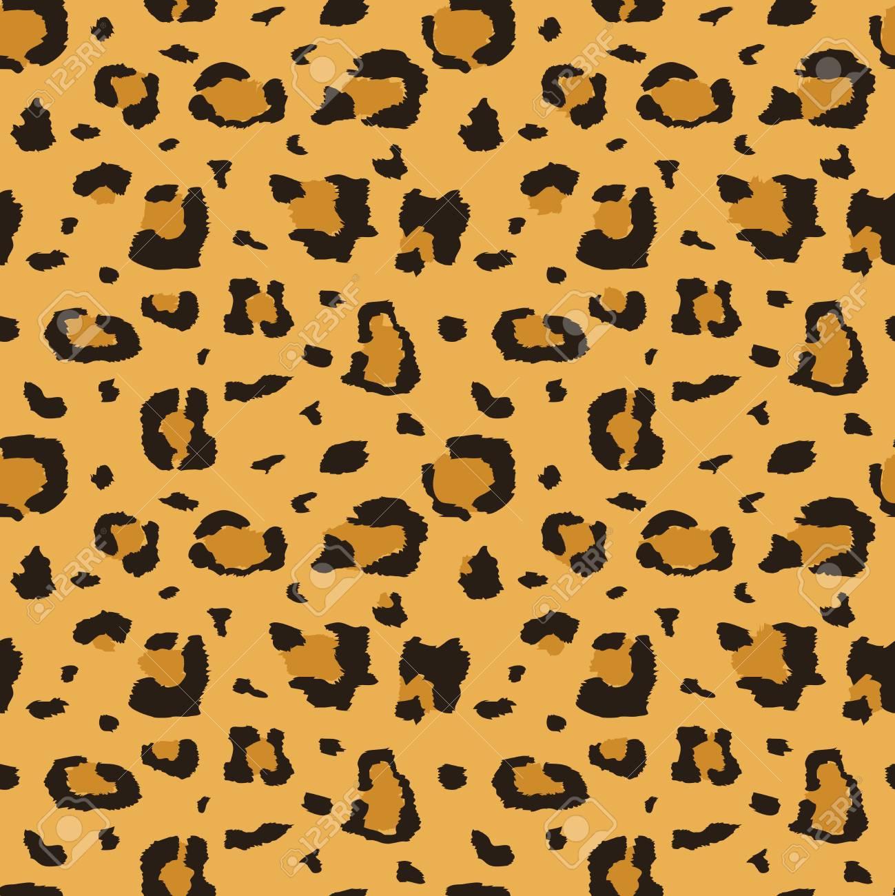 african cheetah leopard fur seamless texture fabric print