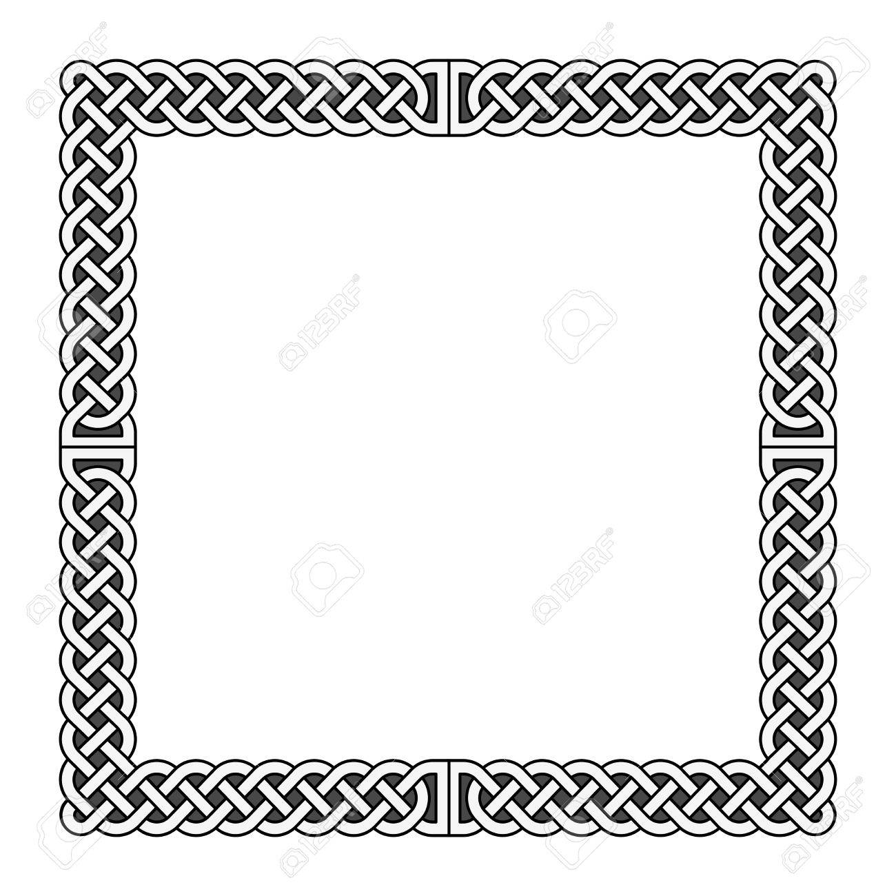 celtic knots vector medieval frame in black and white decoration rh 123rf com ornament celtic border vector
