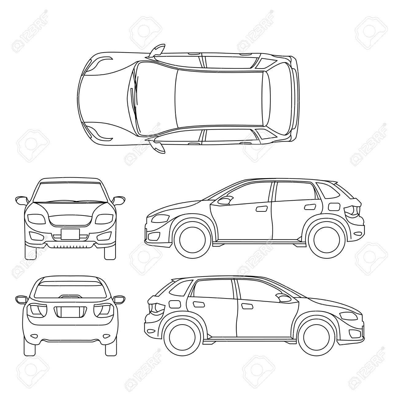 Nicht Für Den Straßenverkehr Suv Selbstentwurfsvektorfahrzeug. Car ...
