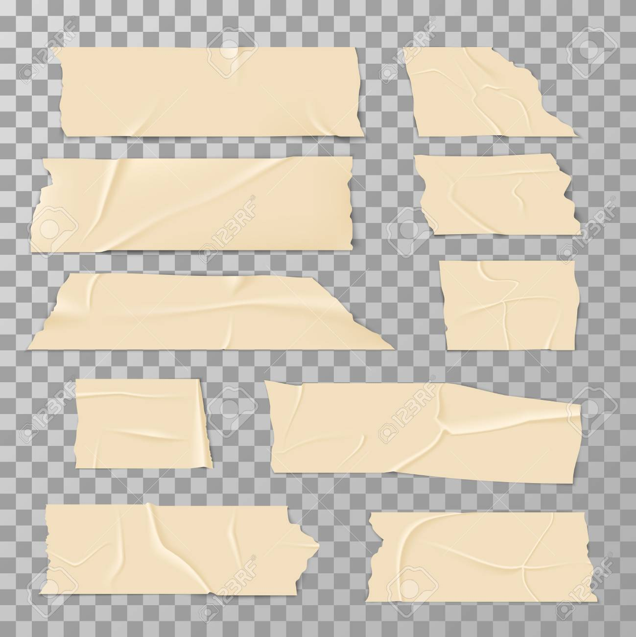 Adhesive Sticky Tape Isolated On Transparent Background Vector