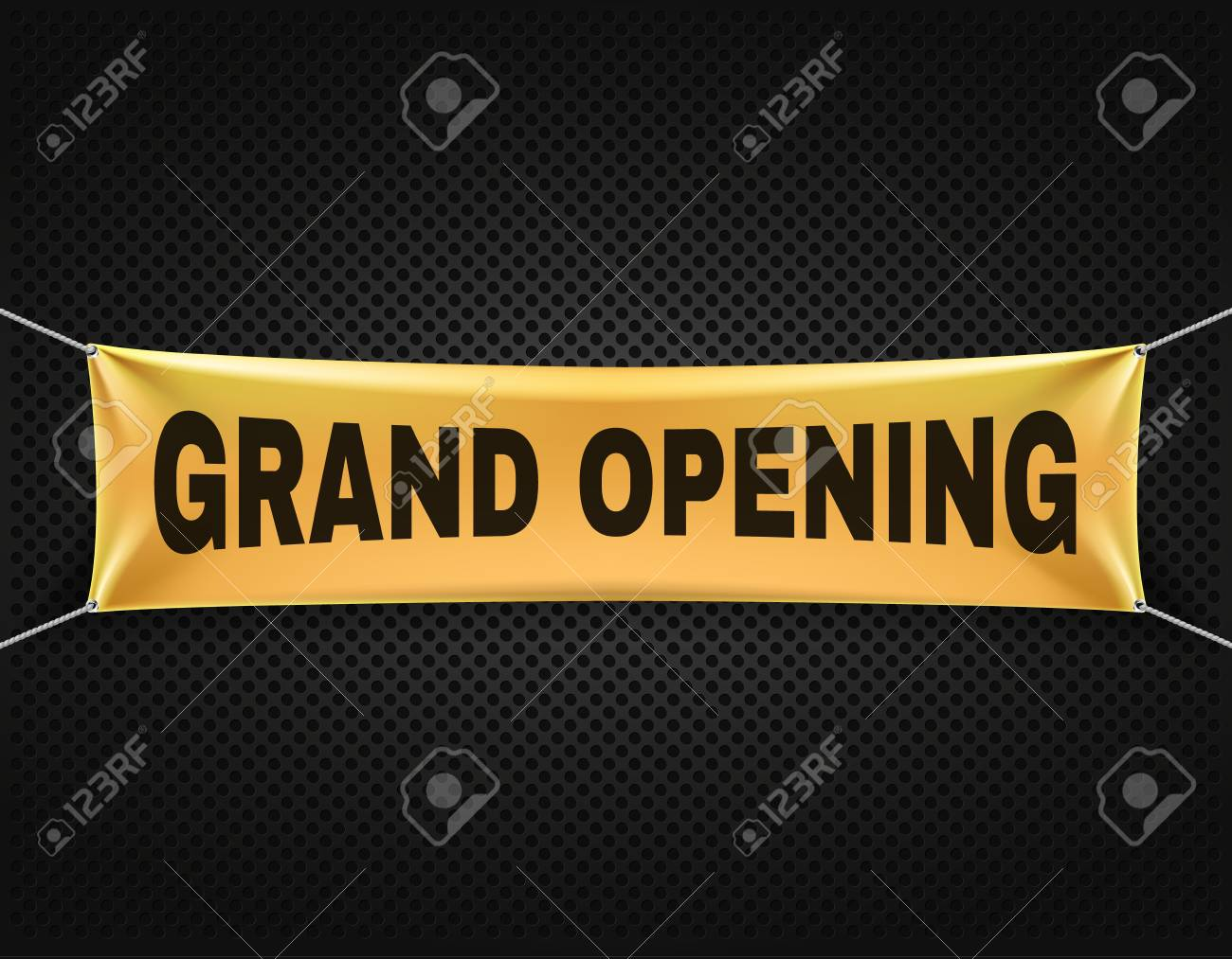 grand opening banner vector text background announcement for