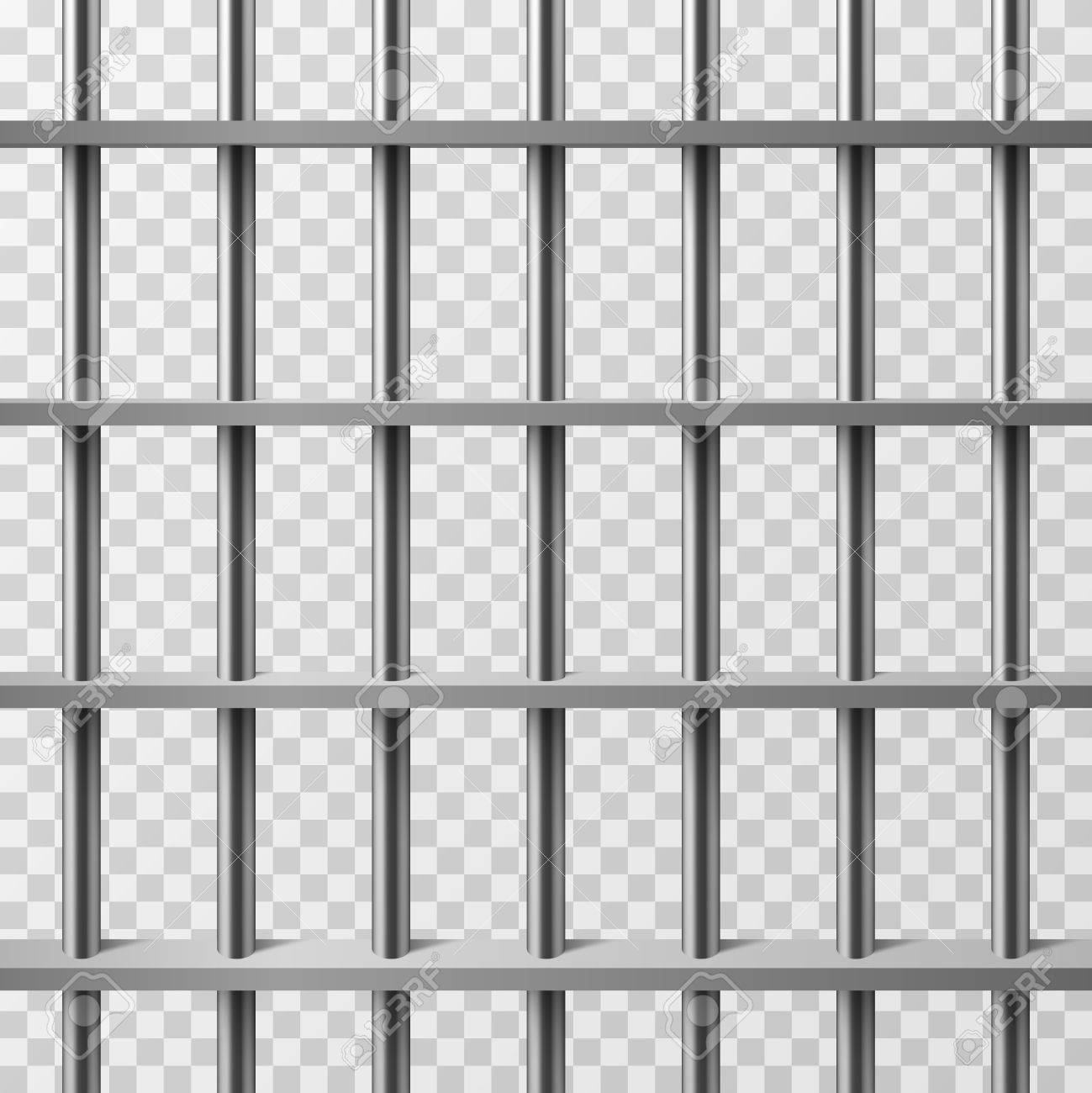 jail cell bars isolated prison vector background illustration