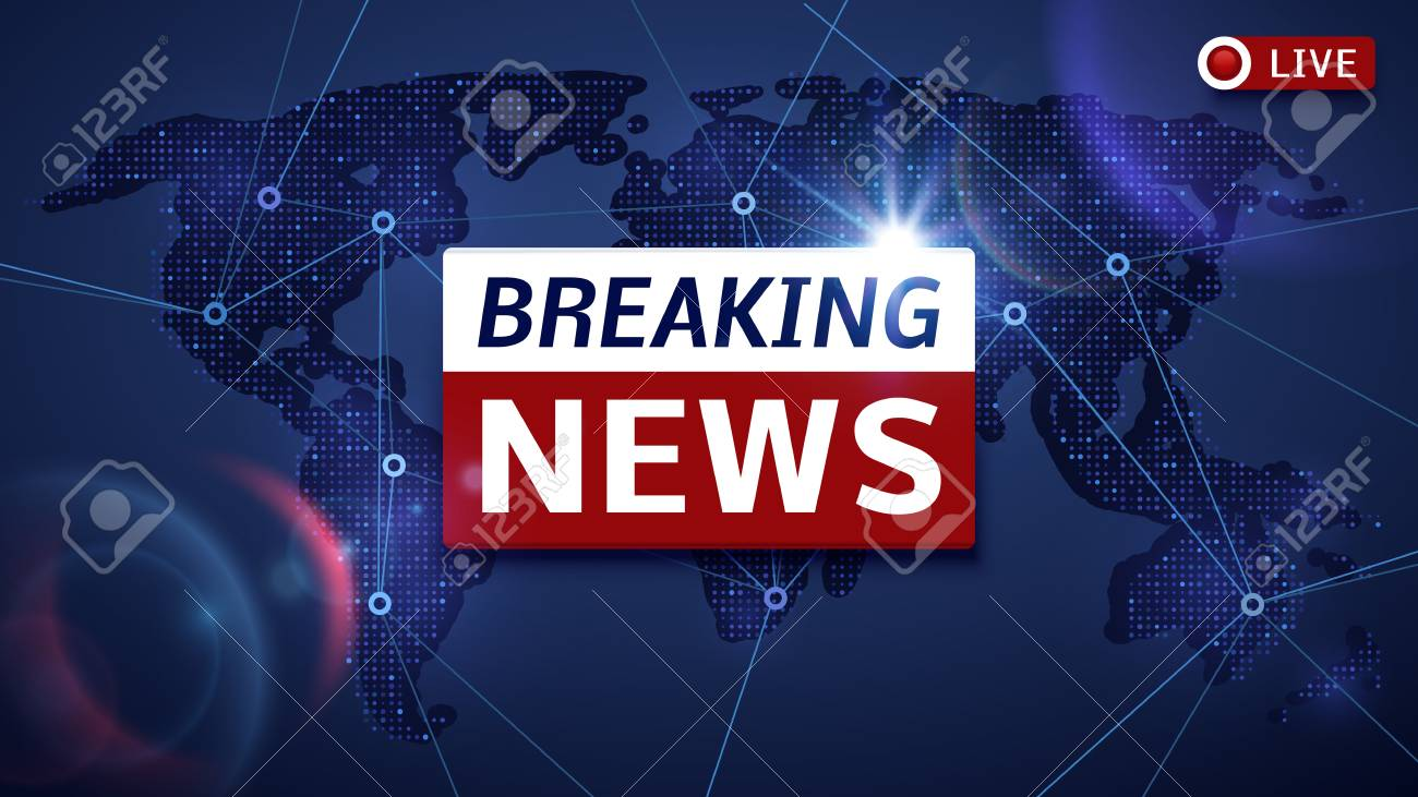 Breaking World News Live Vector Tv Background And Internet Video Stream Concept On