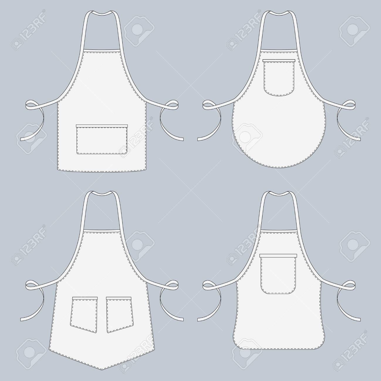 Cook Uniform. Restaurant Apron Vector Template Collection ...