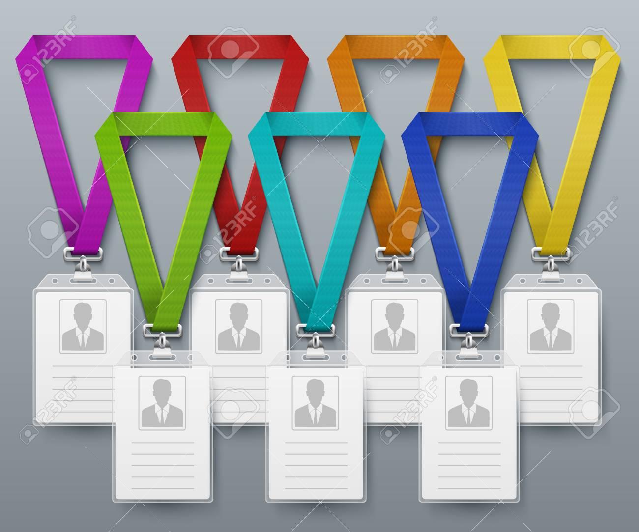 Identificador De La Tarjeta De Identificación De La Oficina De Color ...