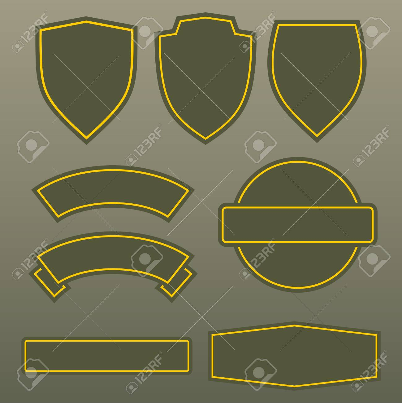 Military Colors Army Patches Template Design. Set Of Symbol Army ...