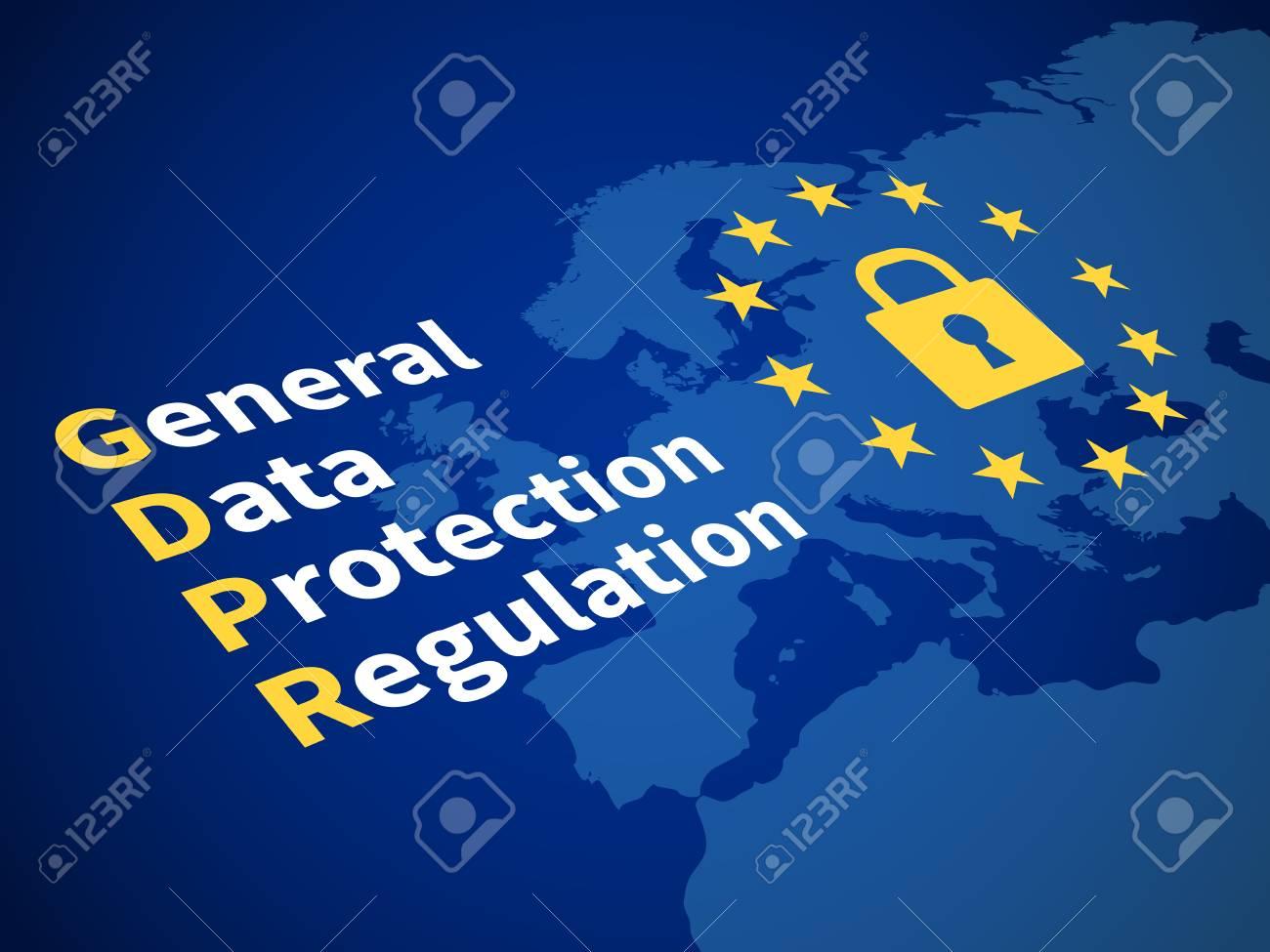 Gdpr general data protection regulation. Eu computer safeguard regulations and data encryption vector concept - 99052678