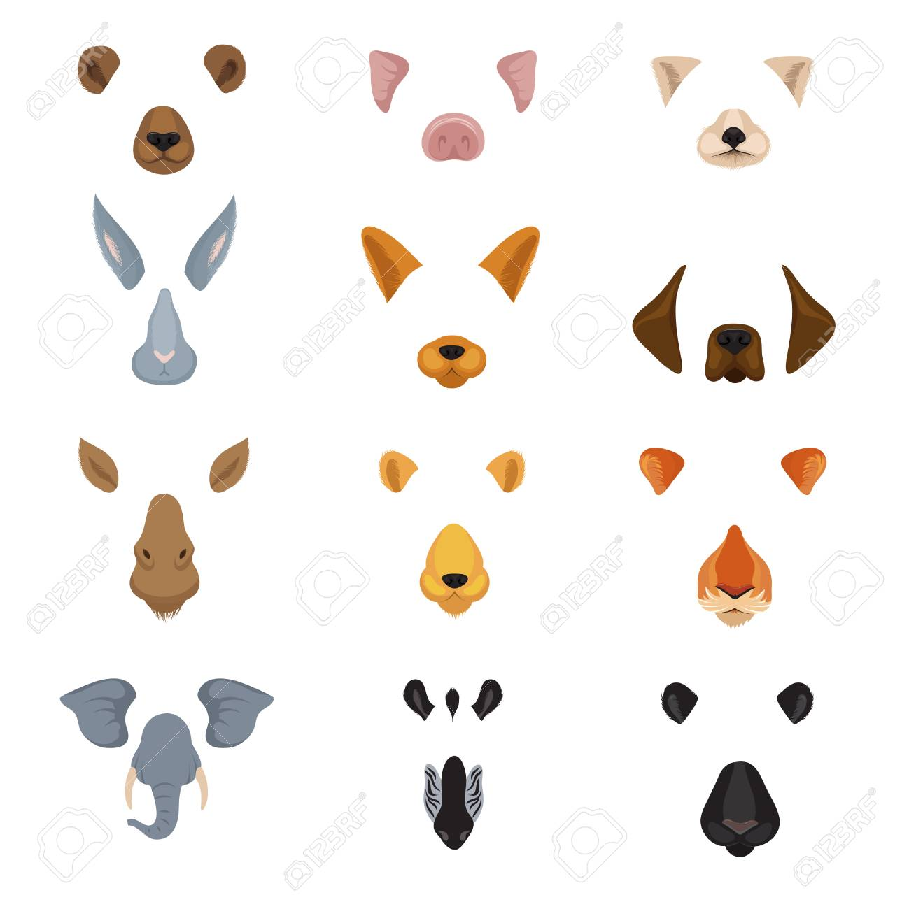 Funny animal faces for phone video chart app  Cartoon animals