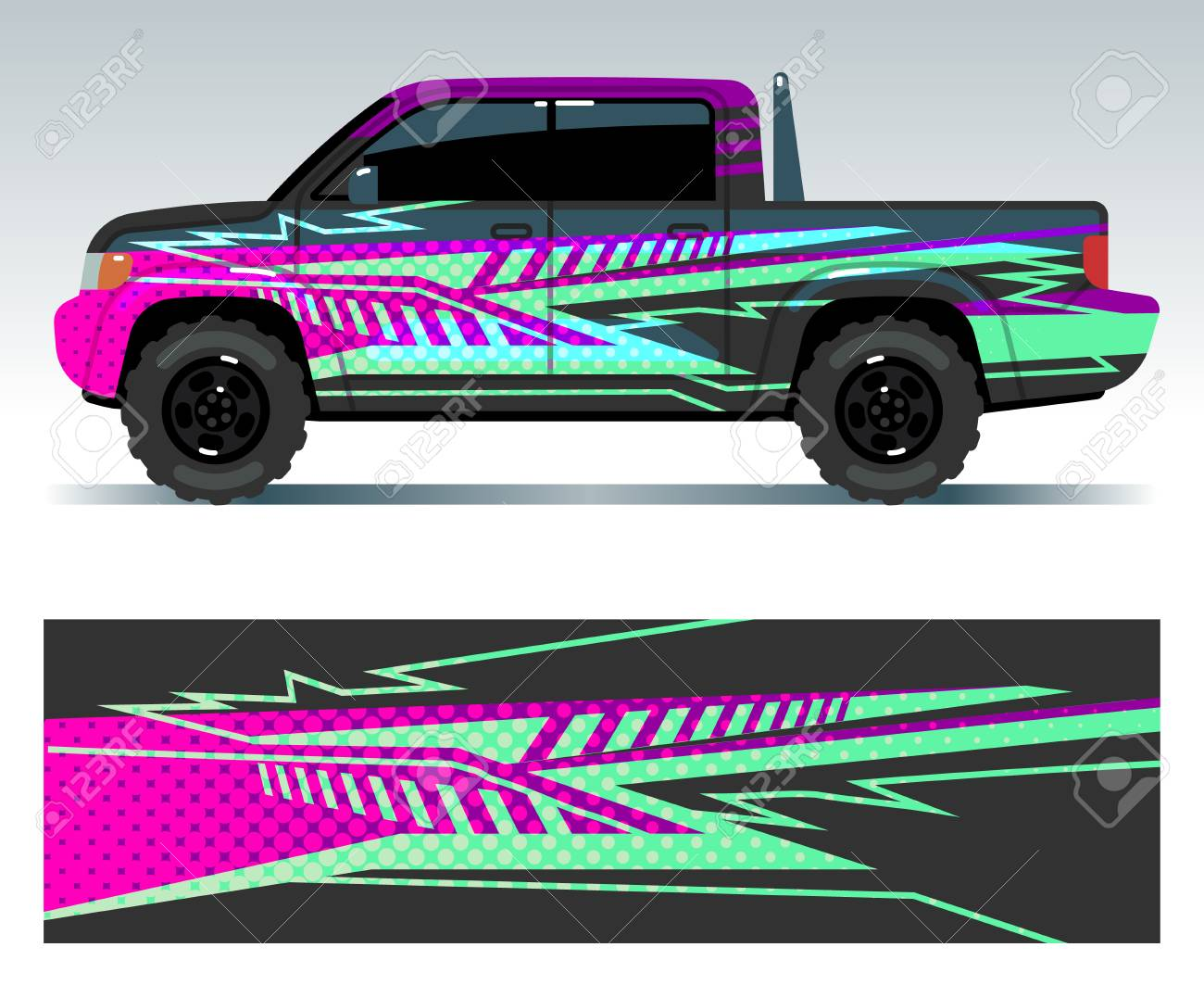 Racing car decals sport vehicle vinyl stickers vector set vinyl decal sticker for car