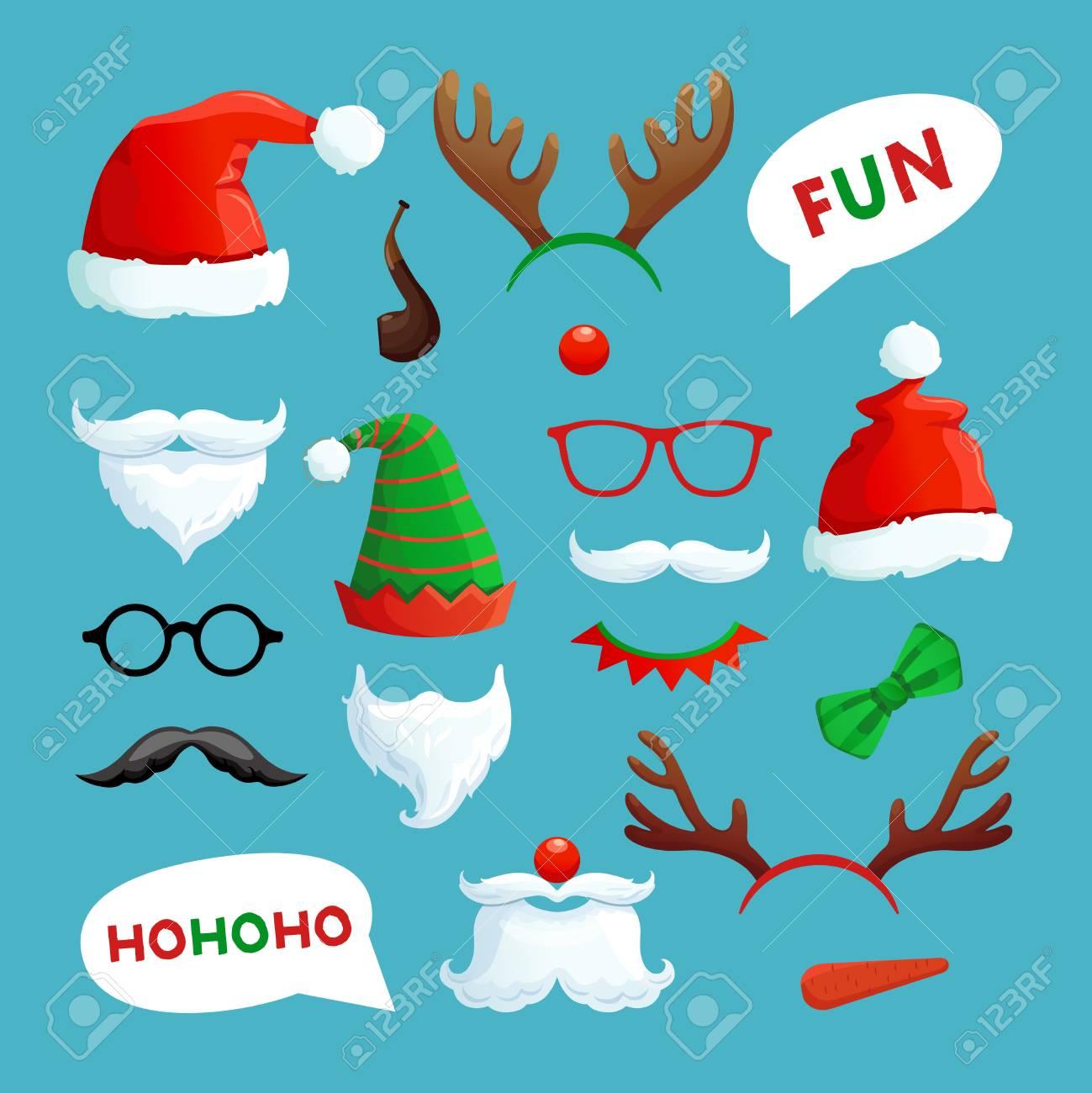 363193d042240 Christmas Photo Booth. Santa Hats