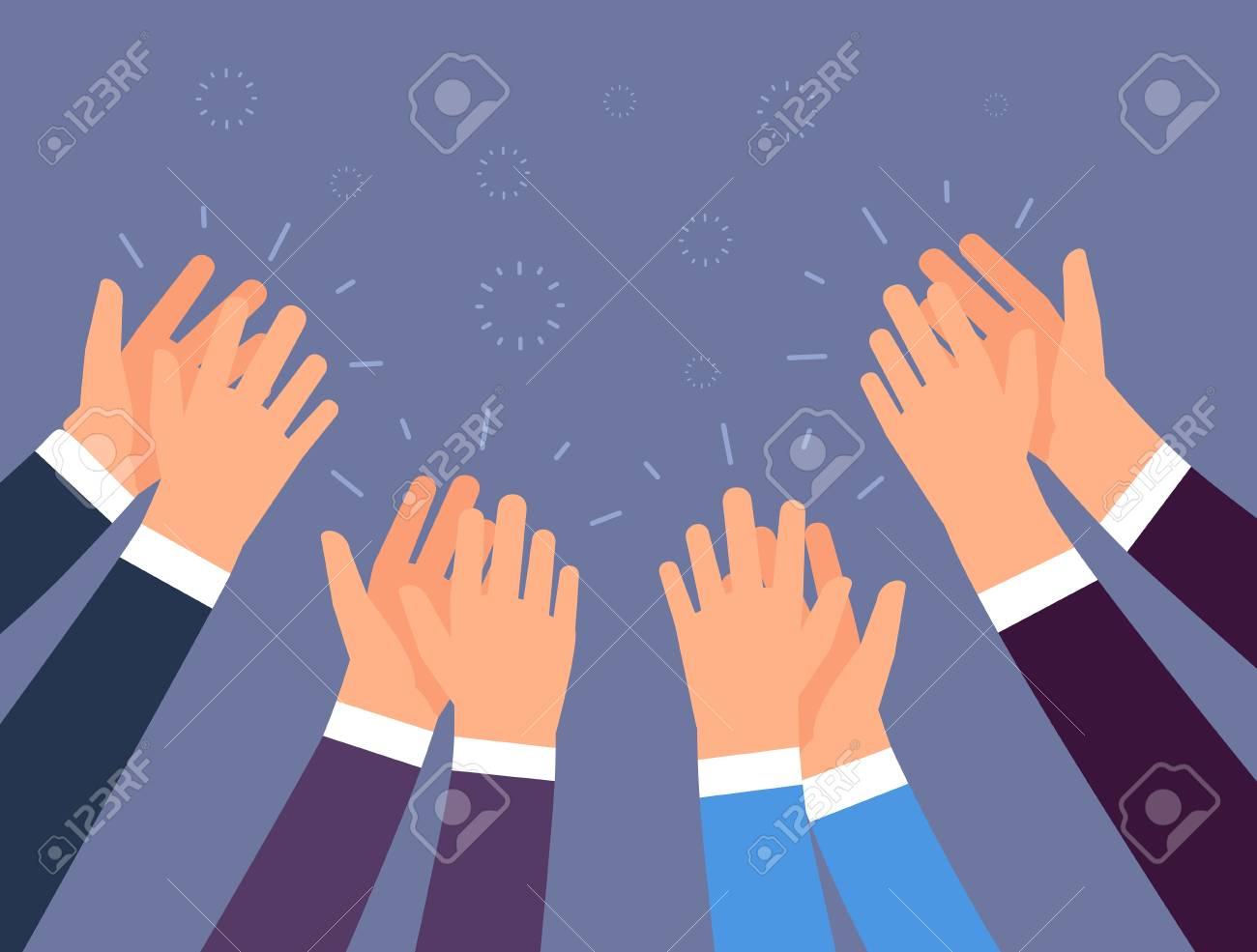 Applause. People hands clapping. Cheering hands, ovation and business success vector concept. Illustration of applause hand, clapping ovation - 111423290