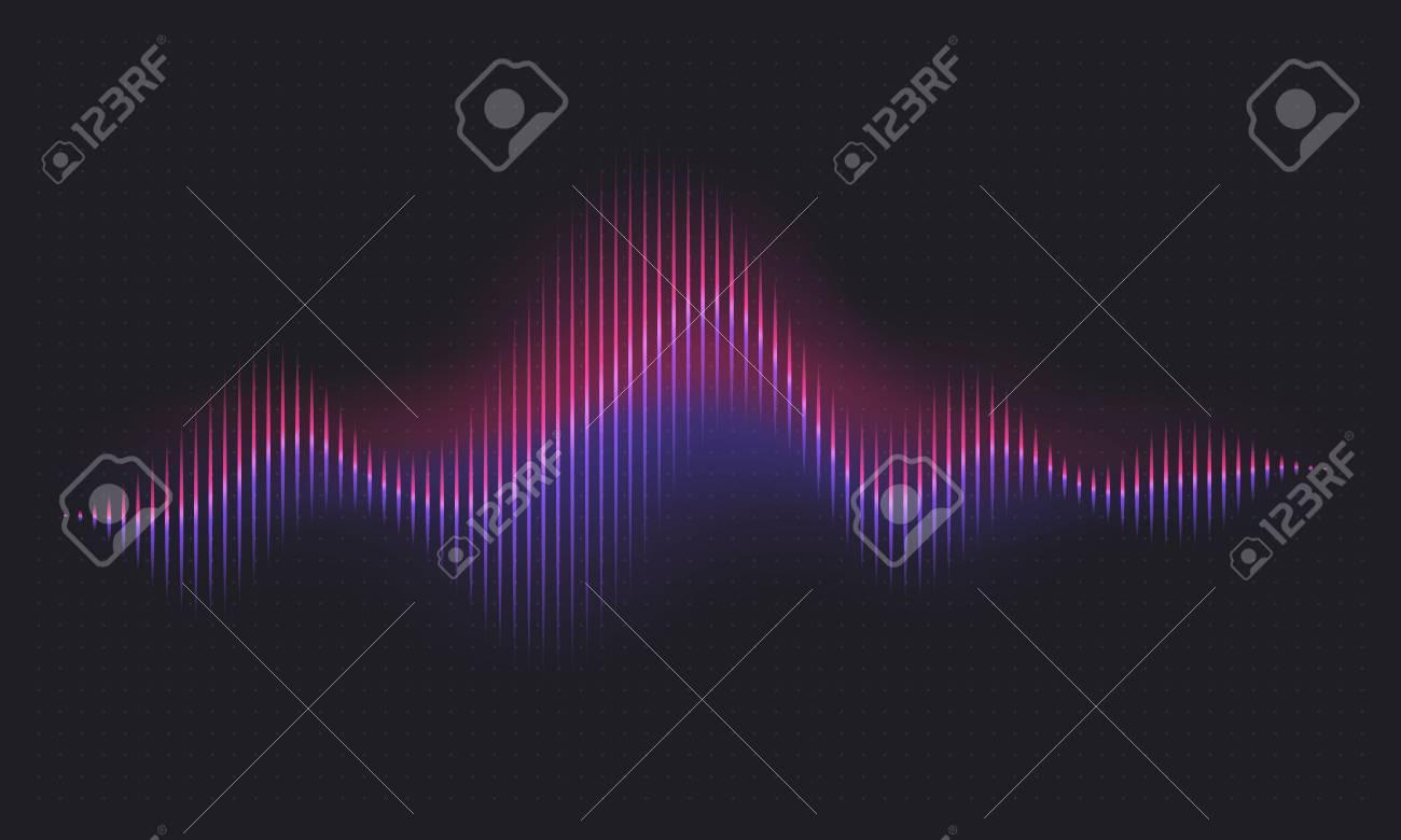 Abstract sound wave. Voice digital waveform, volume voice technology vibrant wave. Music sound energy vector background. Equalizer volume, waveform electronic light illustration - 127269372