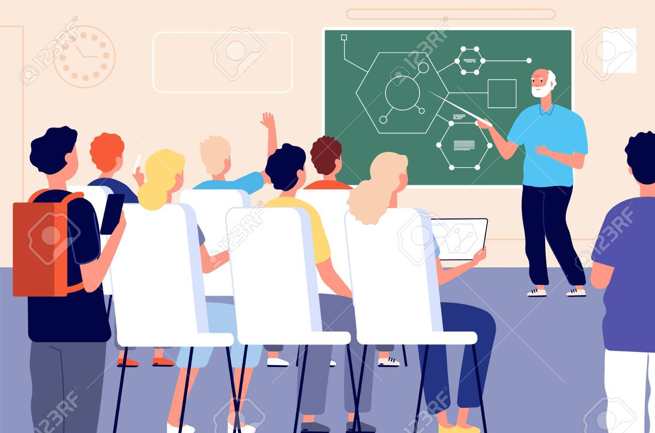 Lecture Student Class Education Training Lesson Teacher Presentation Royalty Free Cliparts Vectors And Stock Illustration Image 143409742