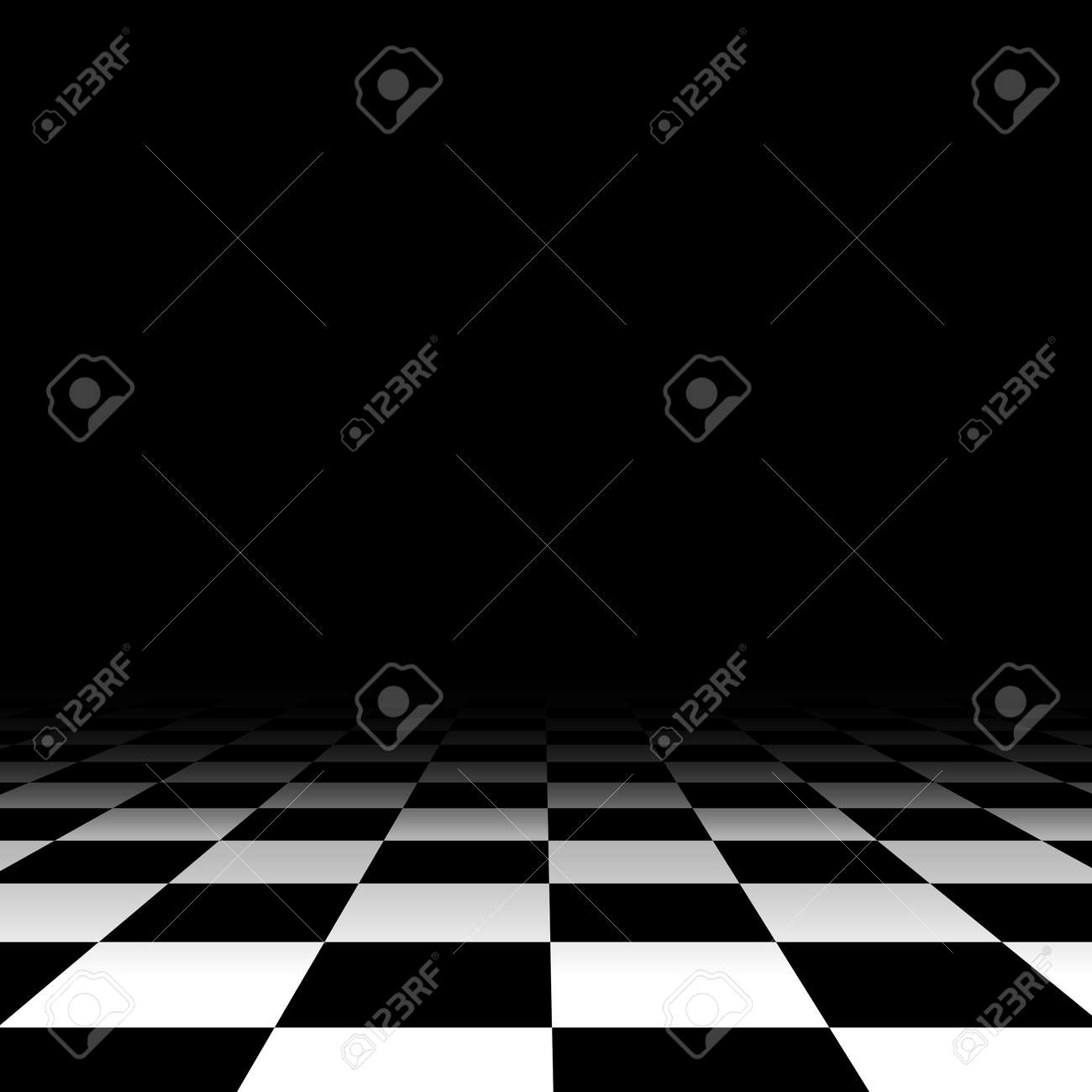 Black and white chess floor background empty. Vector illustration - 166831117