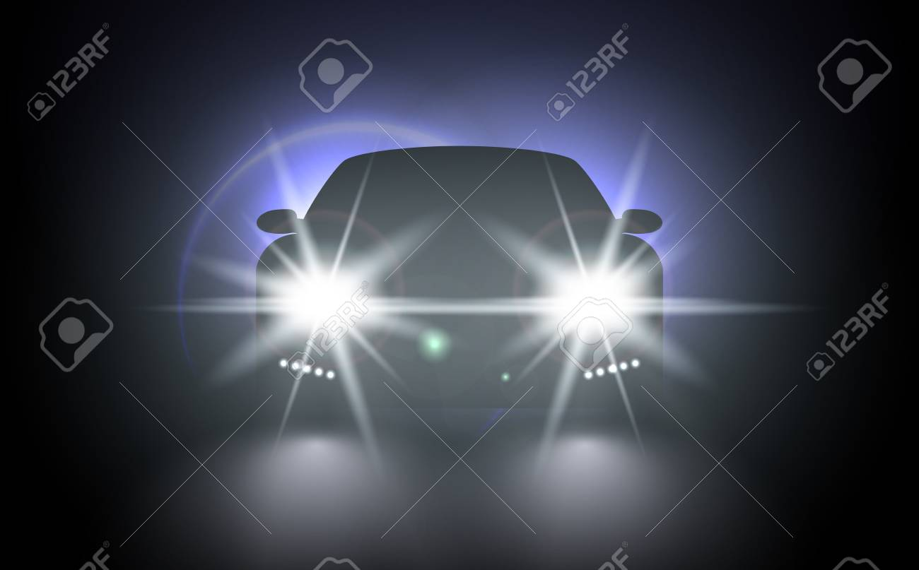 Cars Flares Light Effect Vector Bright Train Lights For Your