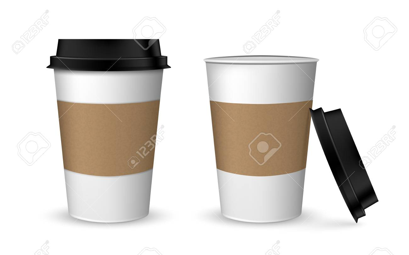 blank realistic coffee cup mockup realistic paper coffee cup