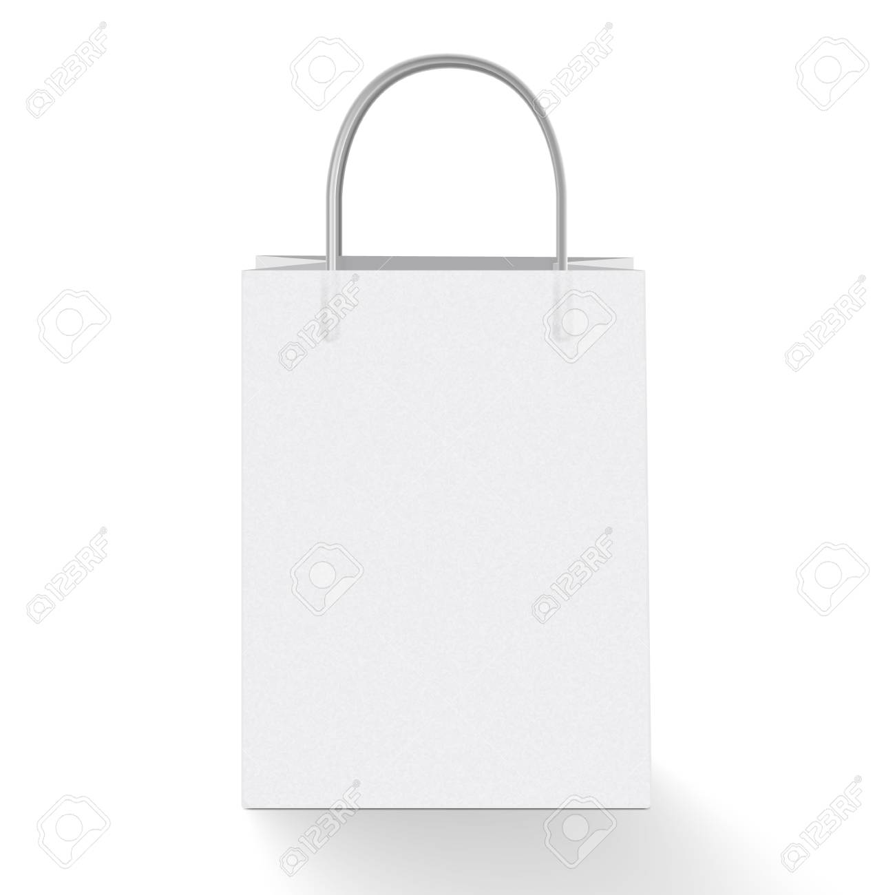 shopping bag template  3d Realistic Vector Illustration Of White Paper Shopping Bag ...