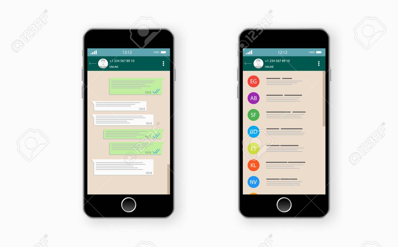 Social network concept  Blank template  Chatting and messaging