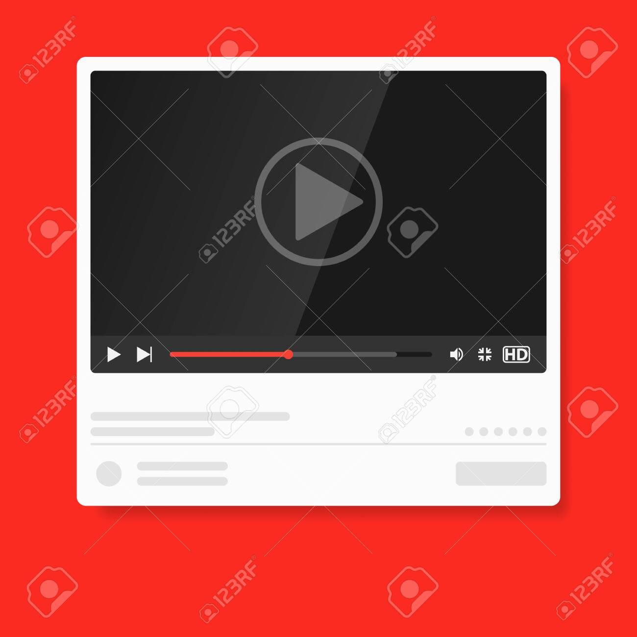 Modern Video Player Design Template Media Player Window Bar