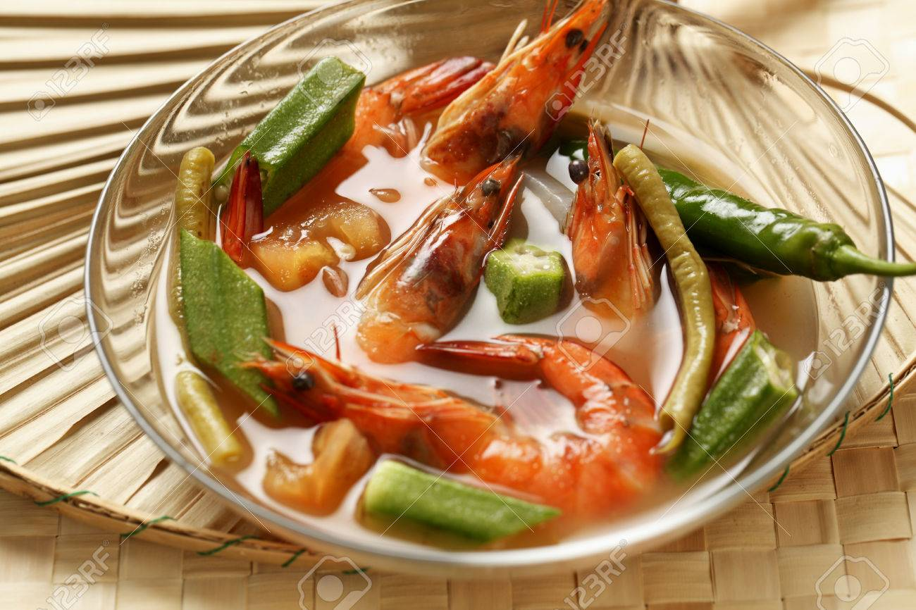 Sinigang Na Hipon Prawn Soup Traditional Filipino Dish Stock Photo Picture And Royalty Free Image Image 69408499
