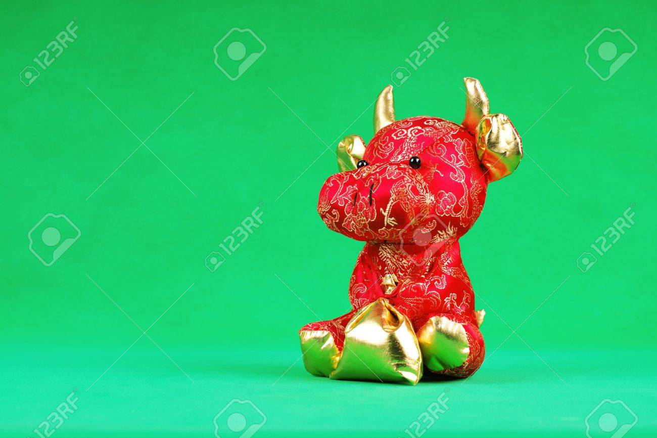 red bull gift lucky animal in chinese new year 2009 stock photo 4884310 - Chinese New Year 2009