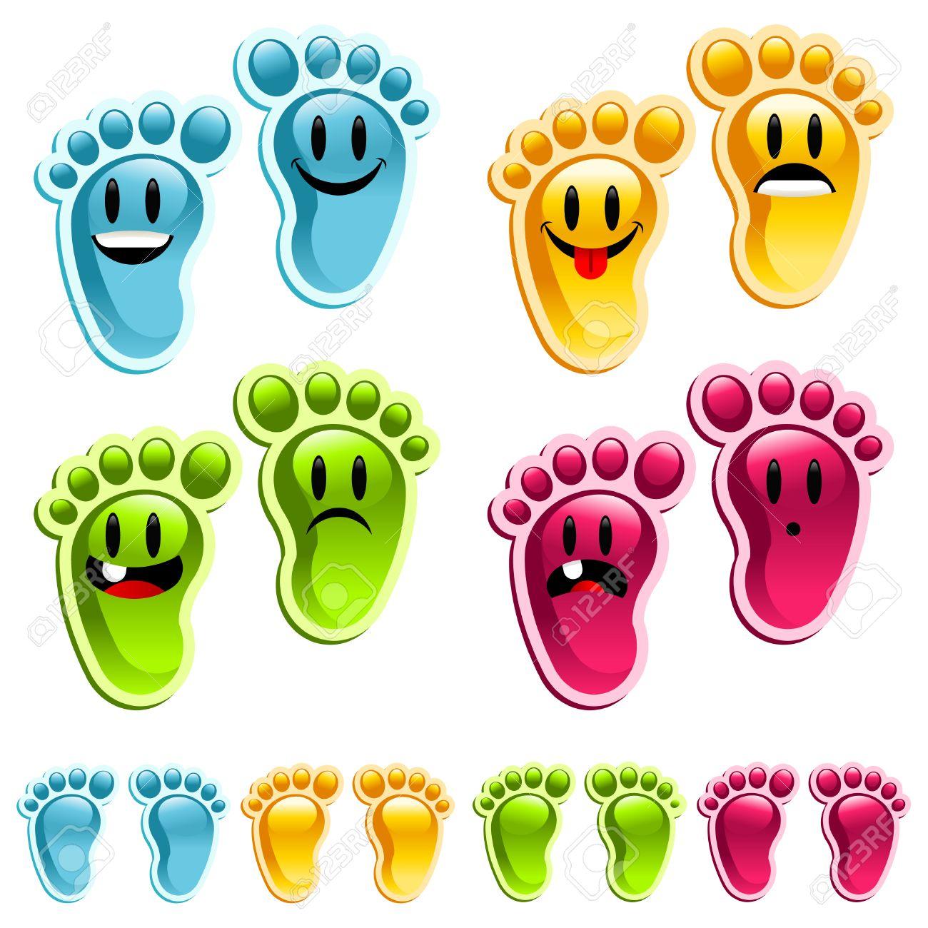 Stinky feet, Smiley feet! Stock Vector - 7742932
