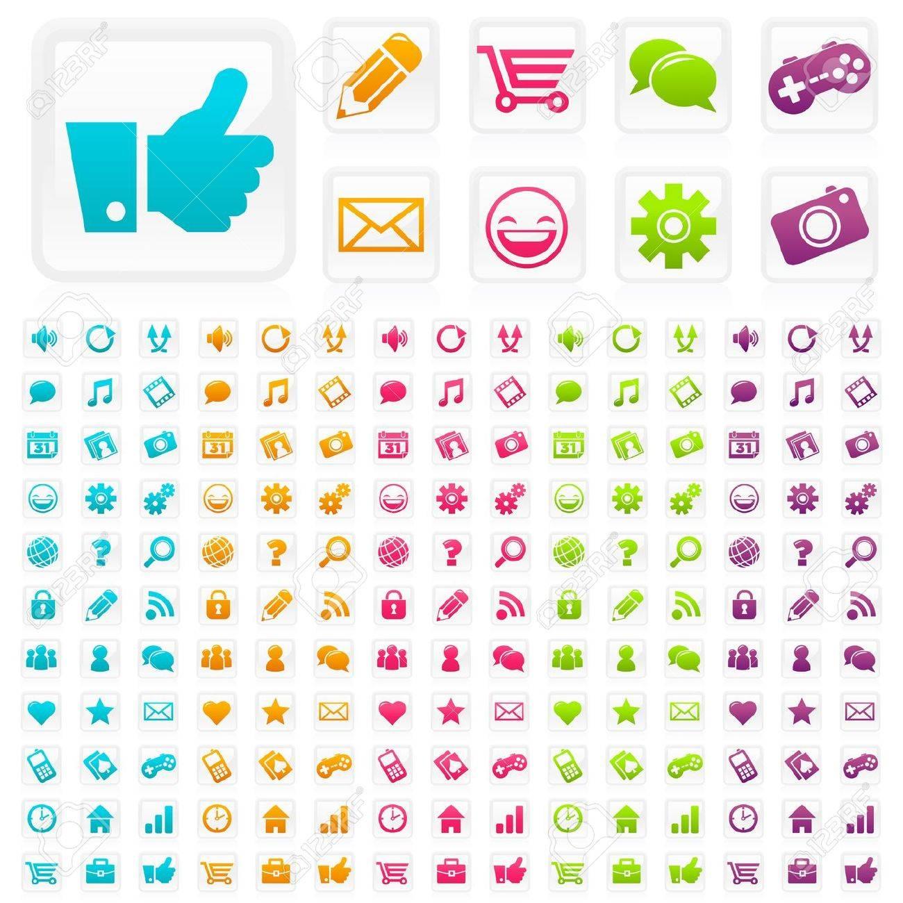 Social Media Icons Stock Vector - 11406313