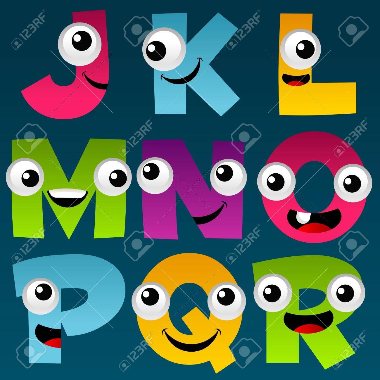 Cartoon Alphabet Set 2 Stock Vector - 11814228