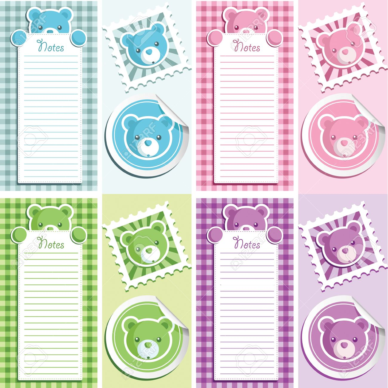 Cute Scrapbook Baby Shower Design Elements Royalty Free Cliparts