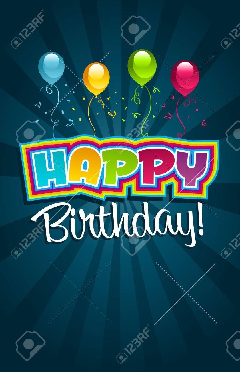 Vector happy birthday greeting card Stock Vector - 13324483