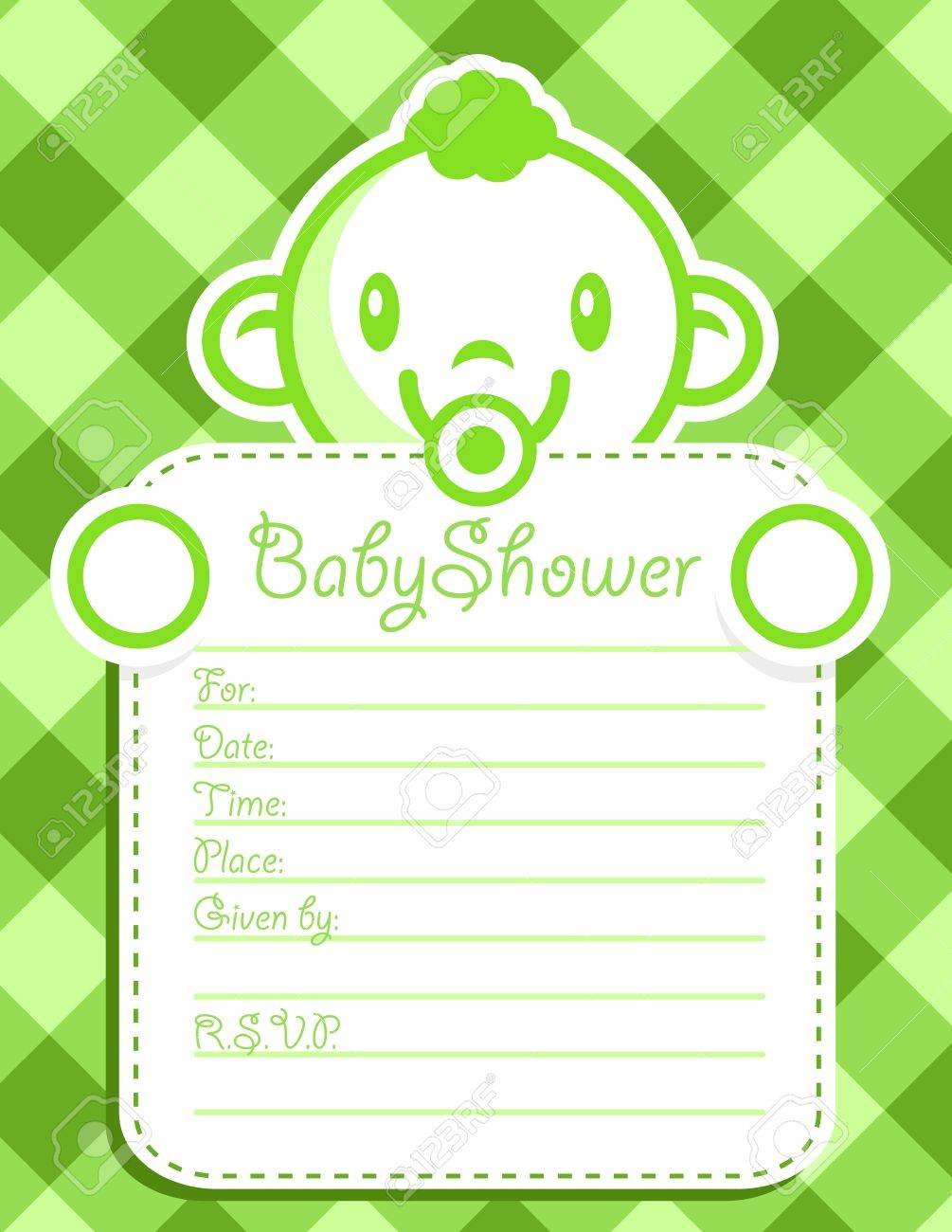 Vector baby shower invitation greeting card. Stock Vector - 14293954