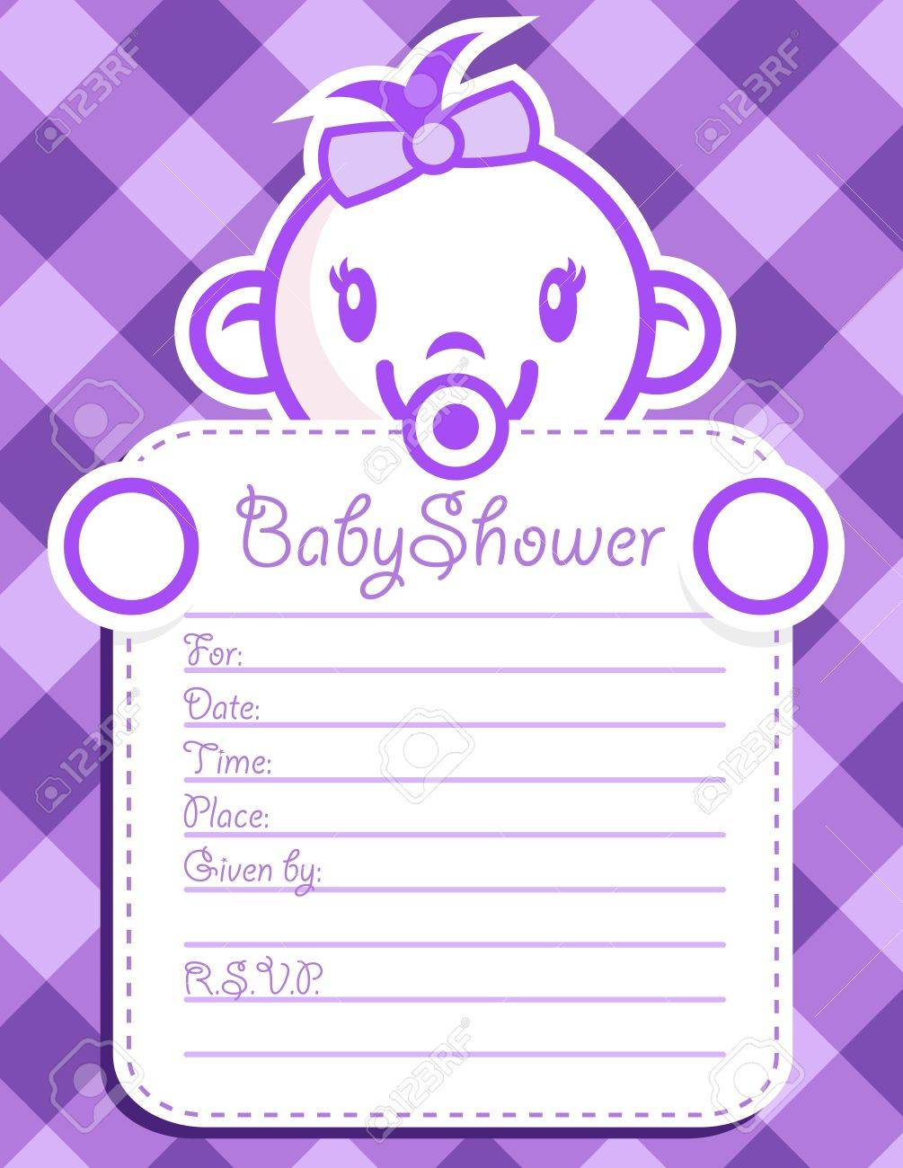 Vector baby shower invitation greeting card. Stock Vector - 14293958