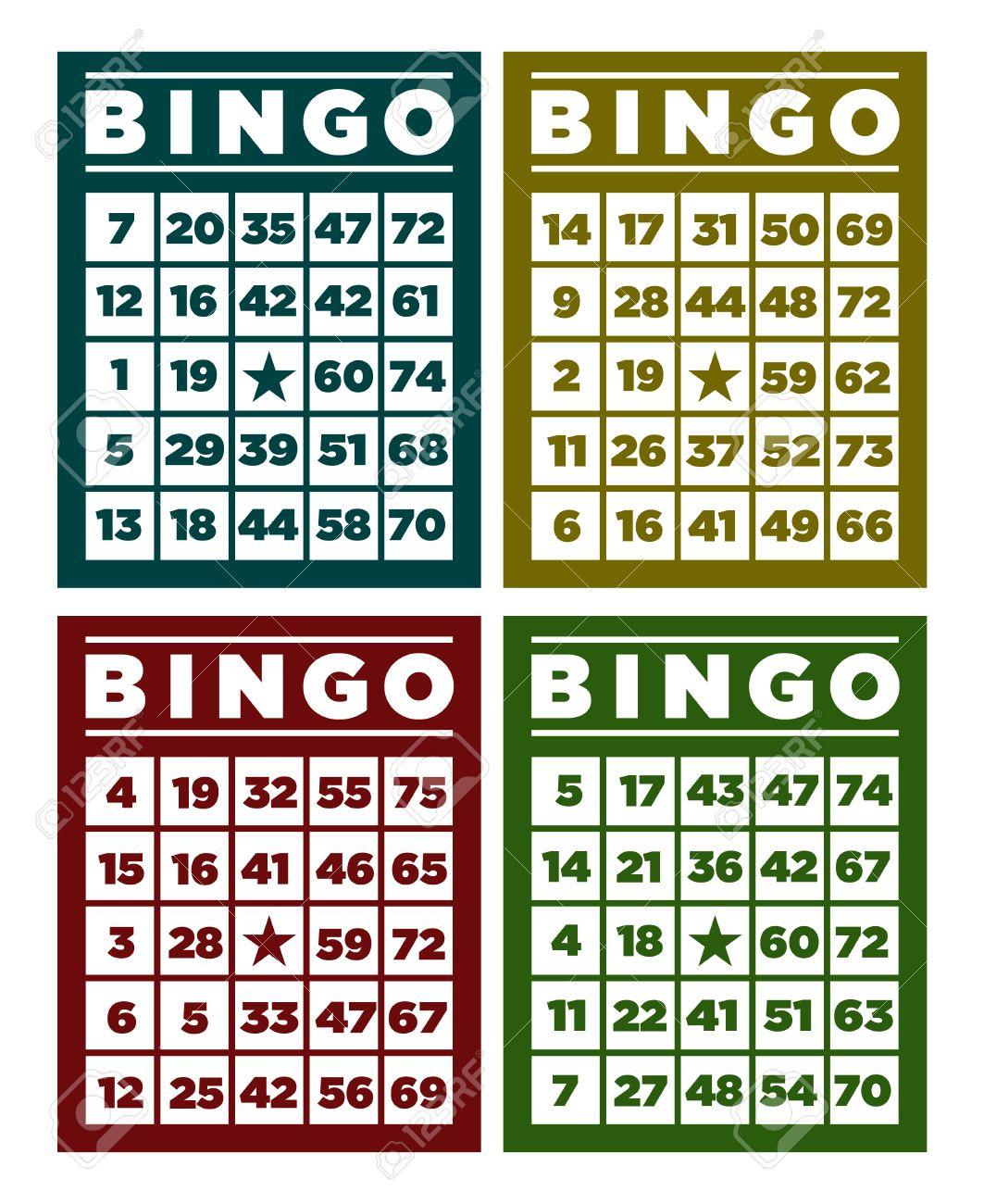 Célèbre Jeu De Cartes De Bingo Rétro Clip Art Libres De Droits , Vecteurs  YC09