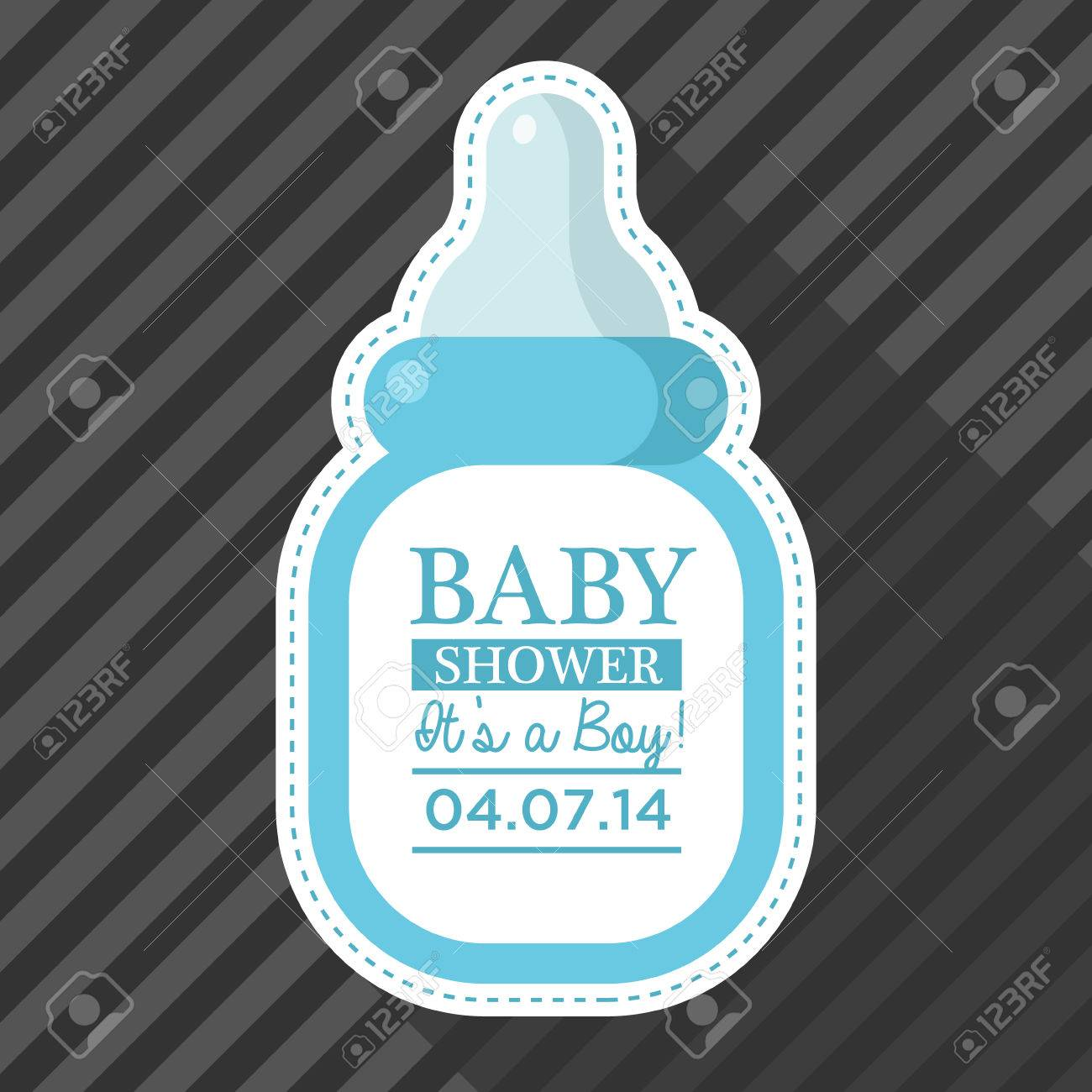 Baby shower invitation with baby bottle royalty free cliparts baby shower invitation with baby bottle stock vector 28515631 filmwisefo
