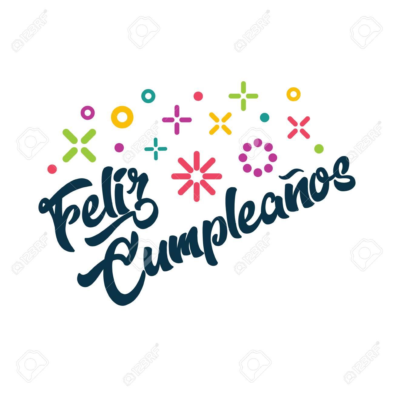 Feliz Cumpleanos Tarjeta De Invitación De Felicitación De Cumpleaños Feliz Español