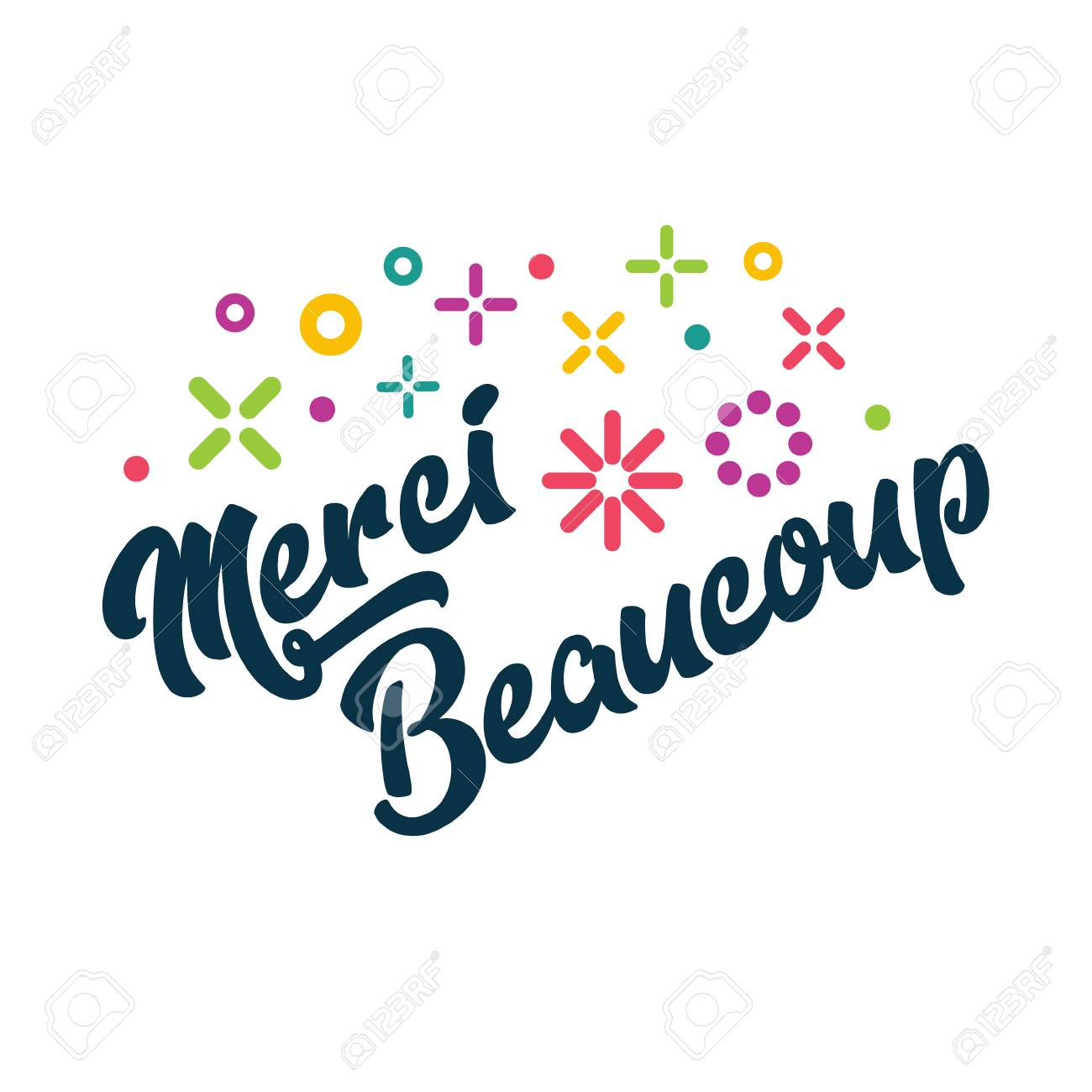 Merci Beaucoup French Thank You Greeting Card Royalty Free Cliparts Vectors And Stock Illustration Image 94100092
