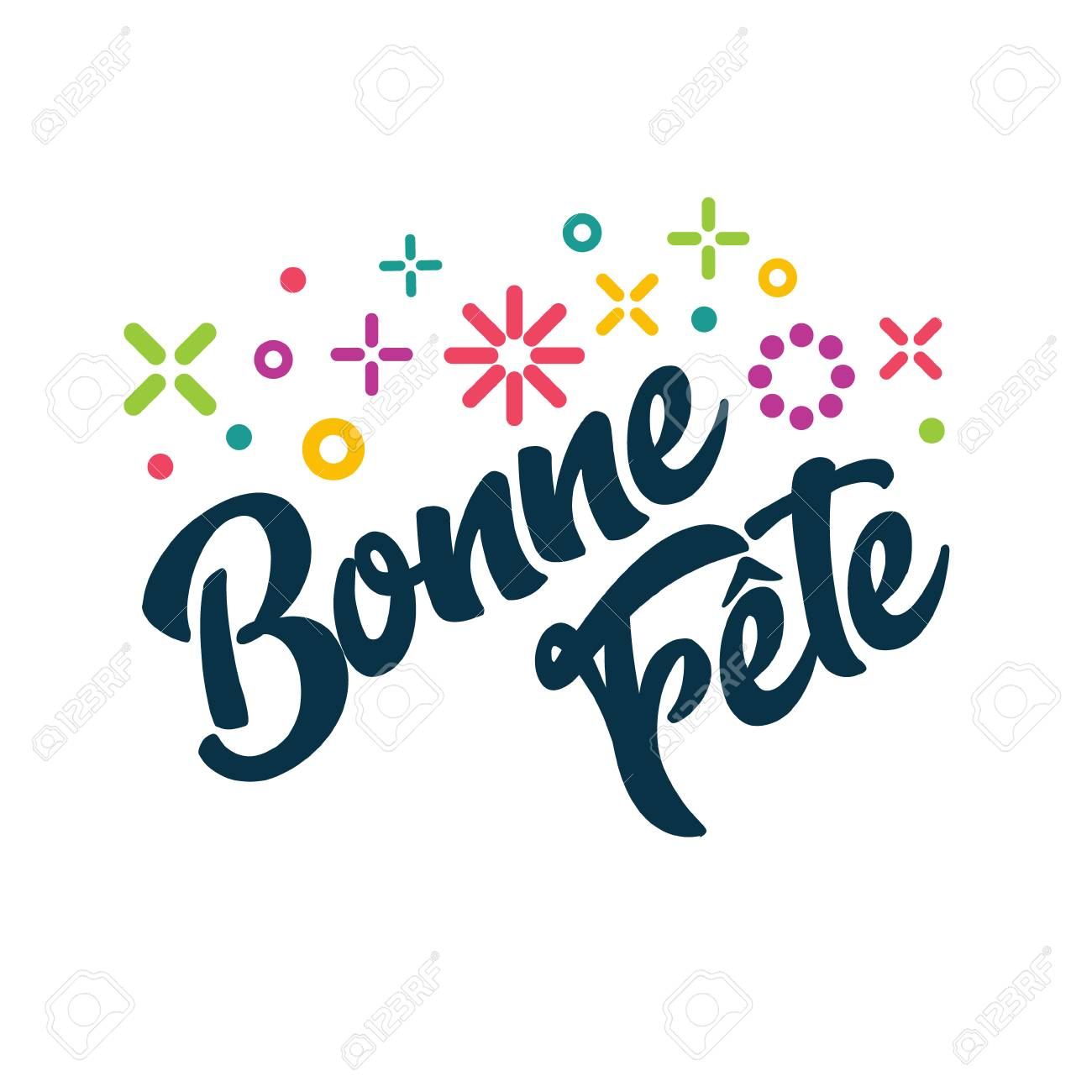 Bonne fete french happy birthday greeting invitation card royalty bonne fete french happy birthday greeting invitation card stock vector 94100097 stopboris Images