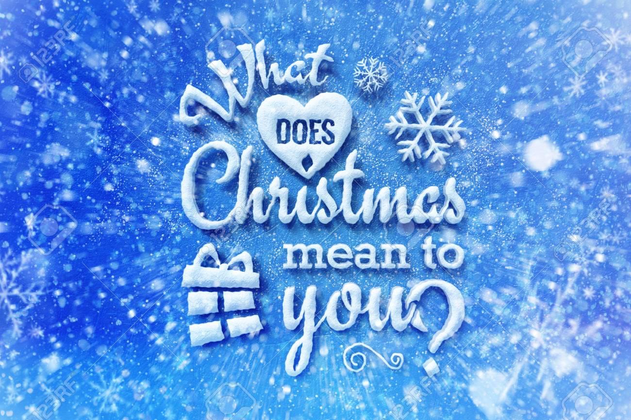 Was Bedeutet Weihnachten Für Sie Mit Schneeeffekt, Weihnachtskarte ...