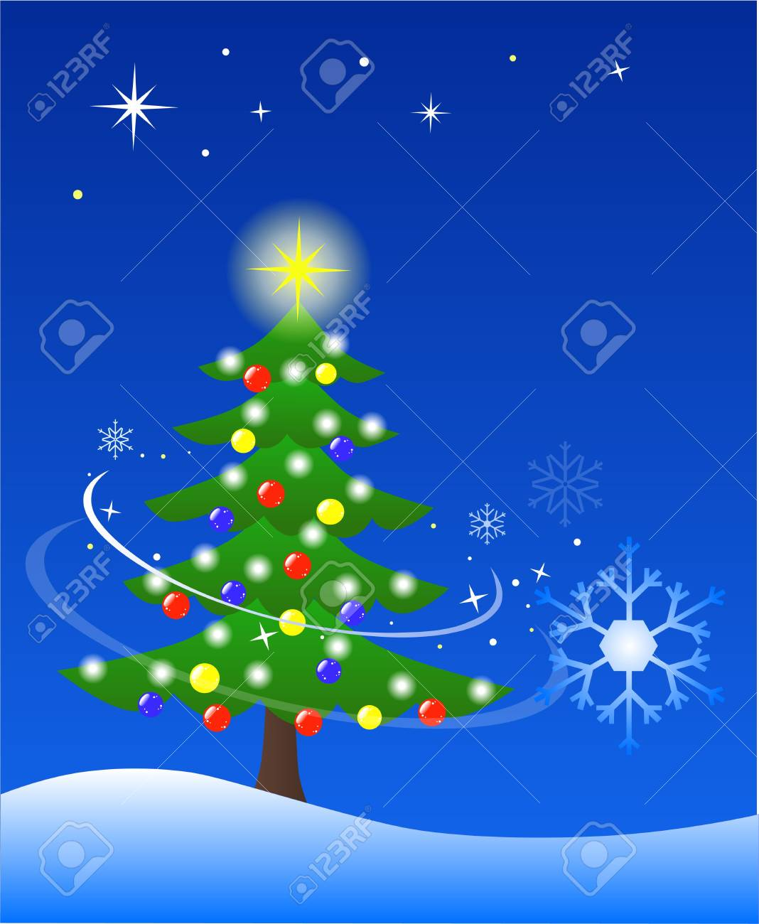 decorated Christmas tree Stock Photo - 3839311