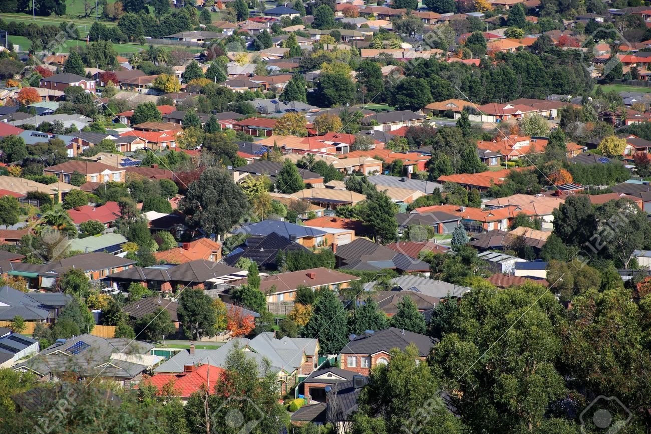 Aerial view of suburban houses in Melbourne, Australia Stock Photo - 13586722