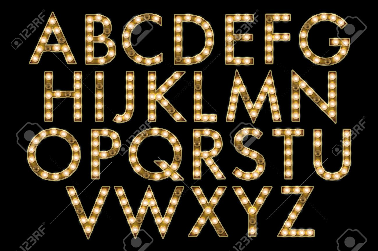 Marquee Lights Alphabet Collection Stock Photo, Picture And ...