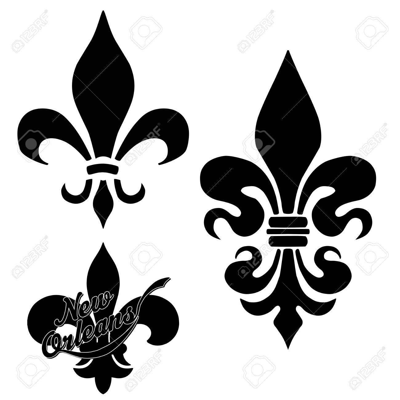 Wordart Collection Fleur De Lis Stock Photo Picture And Royalty