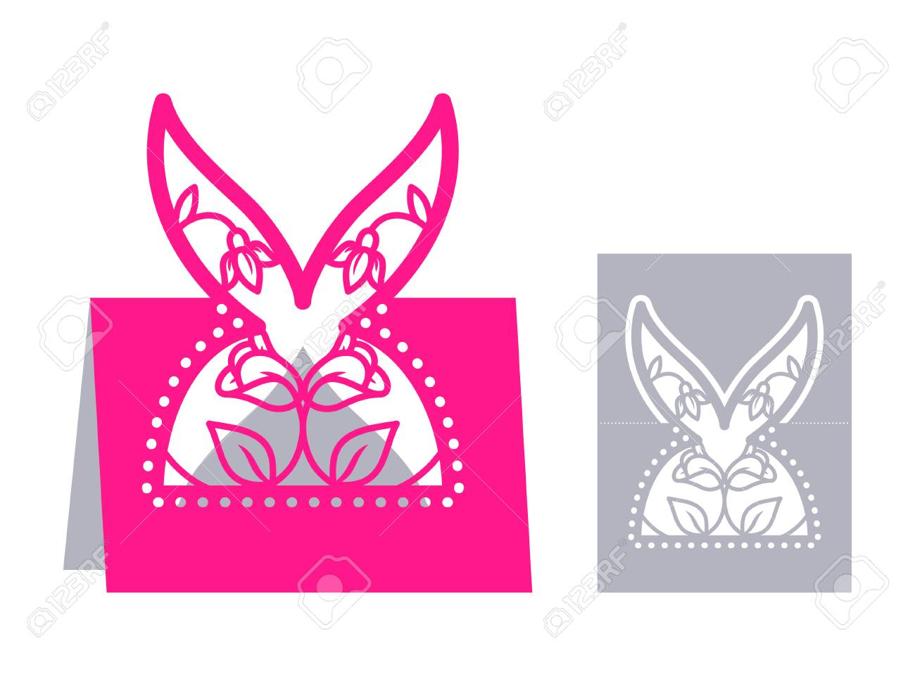 Laser Cut Template For Easter Greeting Fold-out Cards, Invitations ...