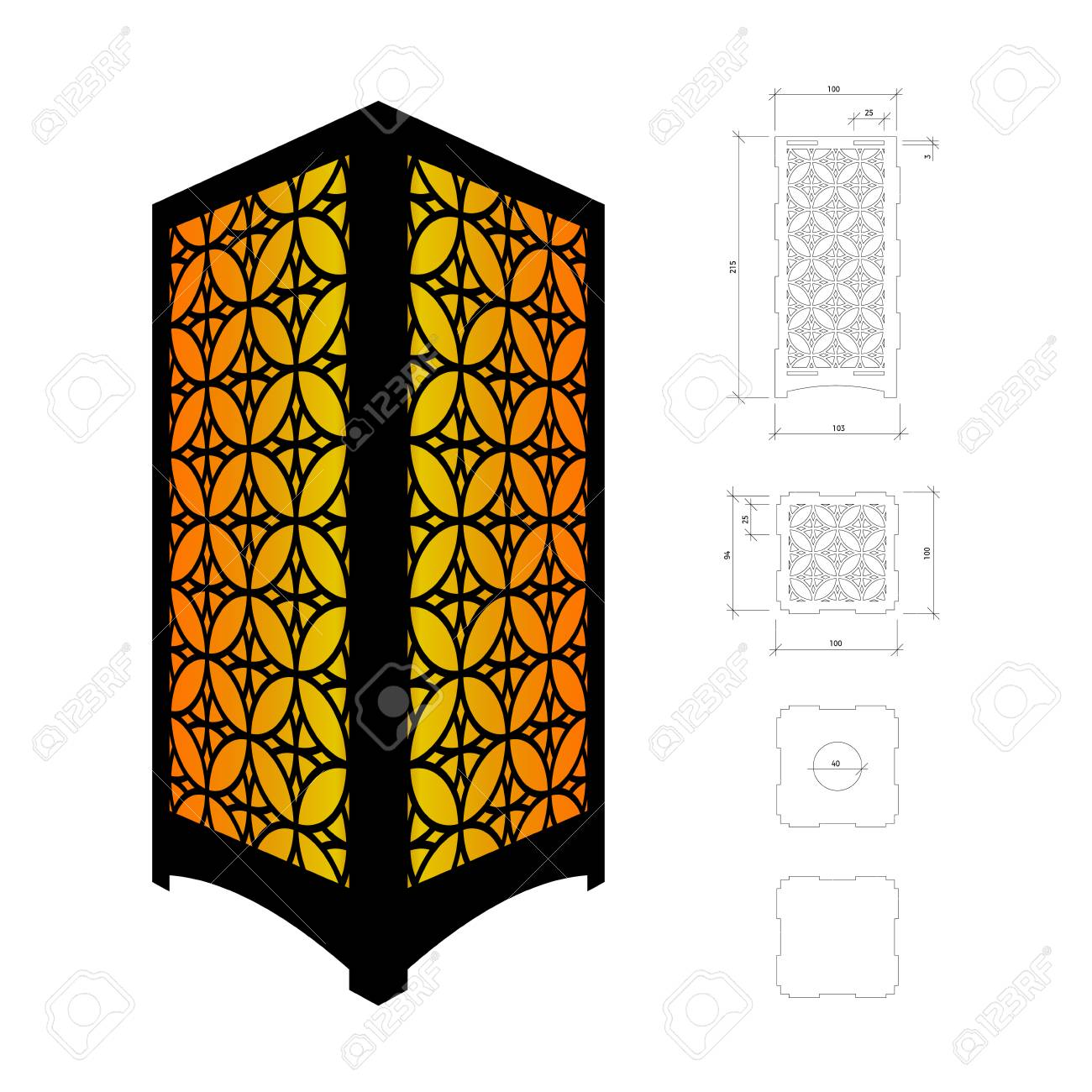 Cut out template for lamp candle holder lantern or chandelier cut out template for lamp candle holder lantern or chandelier plywood 3mm arubaitofo Images