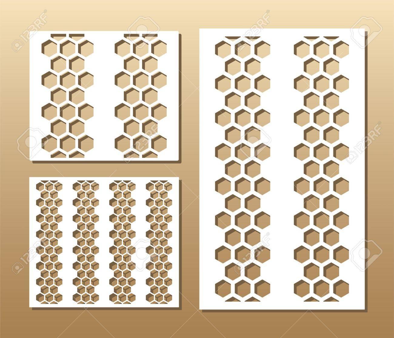 Die cut card  Laser cut vector panel  Cutout silhouette with