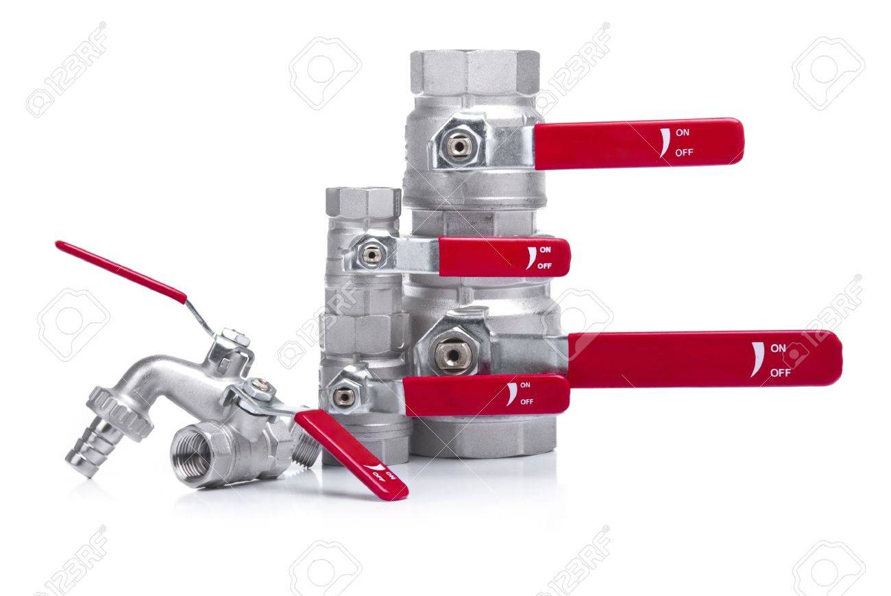 Water Faucets Stacked Stock Photo - 14036883